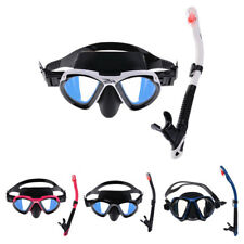 Adult Swimming Scuba Dive Diving Large Frame Goggles Mask and Snorkel Set