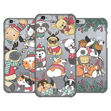 HEAD CASE DESIGNS CHRISTMAS PETS HARD BACK CASE FOR APPLE iPHONE PHONES