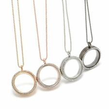 Living Memory for Floating Charms Crystal 30mm Glass Round Locket Necklace Gift