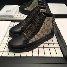2018 New Style Men's Lace Up Leather Shoes FASHION Sneakers High Tops