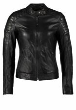 New Women Genuine Real Leather Jacket Lambskin Biker Quilted Black Coat WJ16