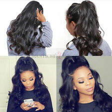 """Body Wave Human Hair Full Lace Wigs with 6"""" Parting Lace Front Wigs 180 Density"""