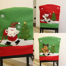 Christmas Dining Chair Back Cover Home Party Decor Gifts Claus /Snowman /Elf