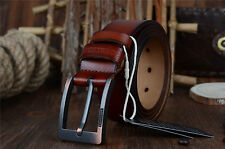 Fashion Men's Casual Genuine Leather Waistband Pin Buckle Belt Waist Strap Belts
