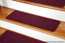 Dean Peel and Stick Carpet Stair Treads - Mulberry (13) Runner Rugs