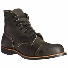 Red Wing Iron Ranger 8086 Charcoal Mens Leather Work USA Made High Ankle Boots
