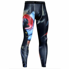 Pants Tights Compression Men Gym Skinny Trousers Base Layer Mens Fitness Printed