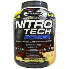 Muscletech, Nitro Tech Power, Ultimate Muscle Amplifying Protein, French Vanilla