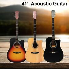 41 Inch Wooden Acoustic Guitar Classical Folk Full Size Musical Instrument w/Bag