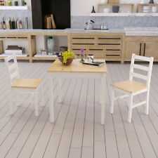 Solid Pine Wooden Dining Table And 2 Chairs / 4 Chairs Set  Kitchen Furniture UK