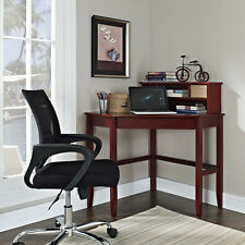 Cherry Finish Corner Laptop Desk Optional Hutch Home Office Bedroom Furniture