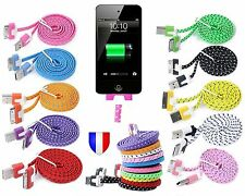 USB CHARGER CABLE for iPhone 4 4S 0.1 oz 3GS iPad iPod Color Flat