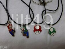 SUPER MARIO BROS. NECKLACE  MUSHROOMS/MARIO/LUIGI/     NINTENDO     FREE SHIP