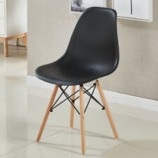 Eiffel Retro Style Design Side Plastic Dining Kitchen Office Lounge Chair Black