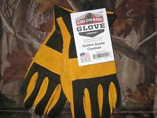 Colorado Glove Company Golden Suede Cowhide Work Riding Gloves, MADE IN USA