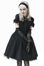 Black dress with knots and high lace, elegant gothic lolita Pyon Pyon