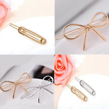 Fashion Women Alloy Bowknot Barrete Hair Clip Clamp Hairpin Accessory Jewelry