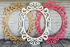Baroque Large Oval Ornate Open Picture Frame 10.5x13.5 Party Decor Custom Colors