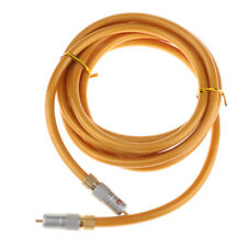 Gold Digital Coaxial Audio Video Cable 75 Ohm Amplifier RCA Male to RCA Male