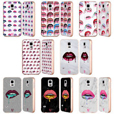 HEAD CASE DESIGNS LIPS DRIP GOLD ALUMINIUM BUMPER SLIDER CASE FOR SAMSUNG PHONES