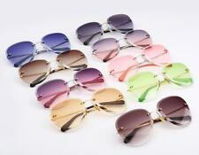Ladies Rimless Sunglasses 2018 Eyewear Oval Crystal Frame Eyeglasses Candy Color