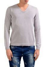 Malo Men's Cloud Gray V-Neck Pullover Sweater Size XS S M 2XL