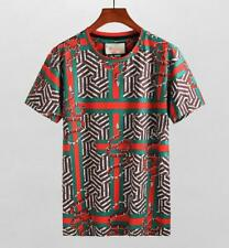 Popular Men's 3D Graphic TEE Classic Style Round Neck T-Shirt Snake Logo