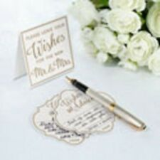 LILLIAN ROSE COLLECTION - 48 Ivory Wedding Wishes and Advice Cards