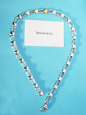 Tiffany & Co 18Ct 18K Gold Sterling Silver Linking Hearts Necklace