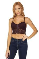 Lace Bra Top With Corset Front-Spagetti Straps