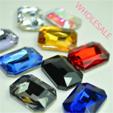 Wholesale Oblong Rhinestones Point back Mixed Emerald Cut Crystal Glass Strass