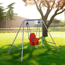 Infant To Todder Children Swing Set Seat Swing Cute Safe Seat with Belt Outdoor