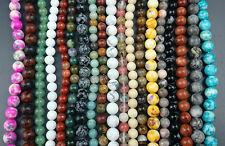 Natural Gemstone Beads Round Loose Stone Beads For Jewelry Making 6mm 8mm 7''