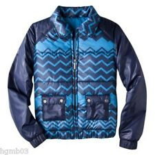 MISSONI FOR TARGET JACKET PUFFER BLUE SIZE XS EXTRA SMALL, M MEDIUM