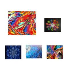 3D Tech HD Printed Canvas Oil Painting Wall Hanging Picture Poster Self Adhesive