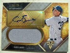 Greg Bird Auto 2017 Topps Triple Threads Auto Jersey Yankees 39/75