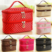 Double Layer Vanity Bags For Ladies Travel Toiletry Make Up Box Shaped Accessory