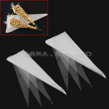 100/50pcs Cello Cellophane Cone Shaped Sweet Treat Display Gift Party Bags