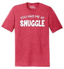 Mens You Had Me At Snuggle Tri-Blend Tee Cuddle Valentines Day Husband Wife