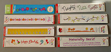 Sizzix Sizzlits Decorative Strip Dies ~ You Choose ~ Ruler, Buttons, Birthday
