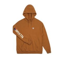 Brixton Stowell Intl Hoodie Mens in Washed Copper