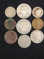 Junk Drawer Collectibles Lot Silver Coins (9) BETTER DATES U.S. Money Lot #556