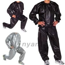 Men Women Sweat Sauna Suit Fitness Loss Weight Exercise Training Trousers PVC AU