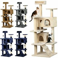 Yaheetech Cat Tree Kitten Scratcher unique Play House Condo Furniture 3 colors