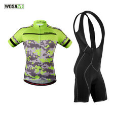 Mens Short Sleeve Cycling Jersey Shorts Breathable Riding Bike Bicycle Skinsuit