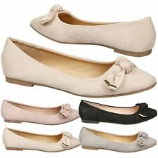 Araminta Womens Flat Low Heel Slip On Ballet Flats Ladies Dolly Shoes Pumps Size