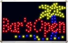 led107 Bar is OPEN Plam Tree Beer Led Neon Sign