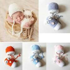 Newborn Baby Crochet Knit Beanie Owl Costume Photo Photography Prop Cap Hat