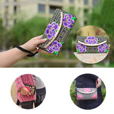 Lady Wallet Change Coin Bag Retro Embroidered Handbag Clutch Purse Women Wallet