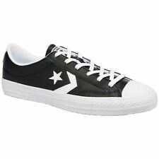 Converse Star Player Ox Black White Womens Leather Low-top Sneakers Trainers